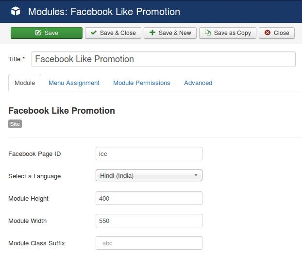 Facebook Like Promotion